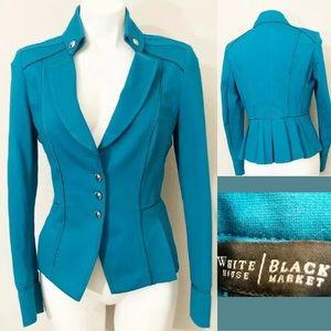 White House Black Market Women's turquoise Blazer